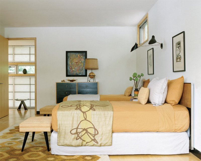 mid century modern king bedroom set