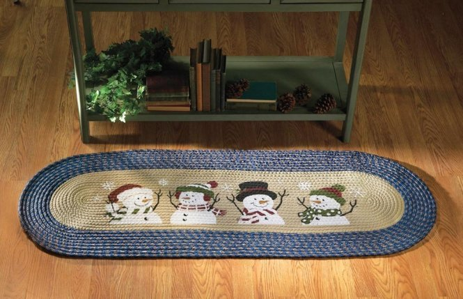 New Year Christmas Decorations Snowman Toilet Seat Cover And Bathroom Rug Kits Home Decor Xmas Supplies