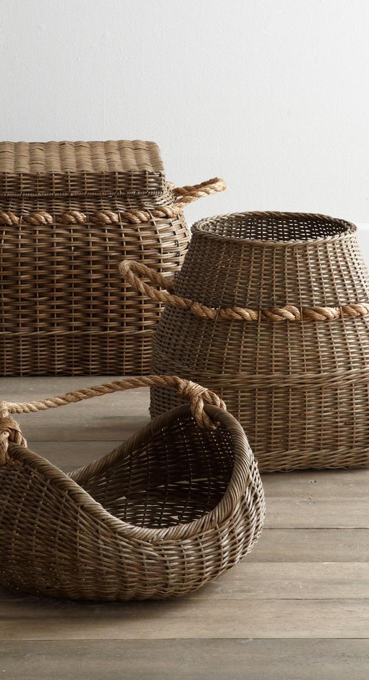 Wicker Hanging Baskets