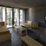 BAK Architects construct Concrete house in Mar Azul Forest4
