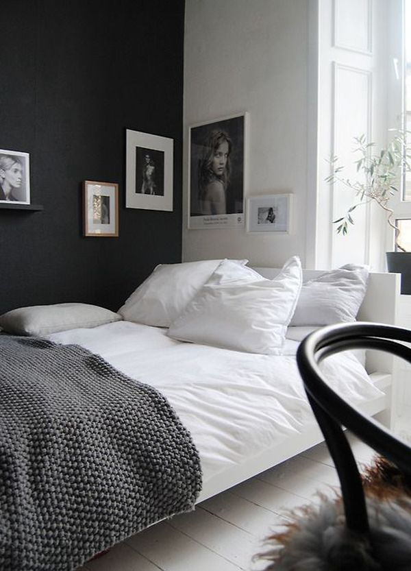 Discover collection of 43 photos and gallery about black red and white bedroom decorating ideas at baxterspaintedpasture.com. accent-black-wall-for-bedroom - Home Decorating Trends