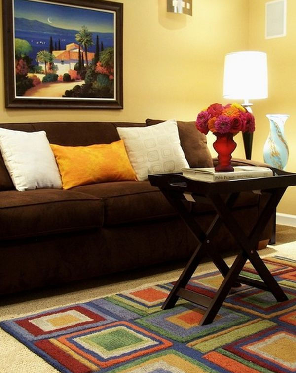 Best Living Room Paint Ideas With Brown Furniture