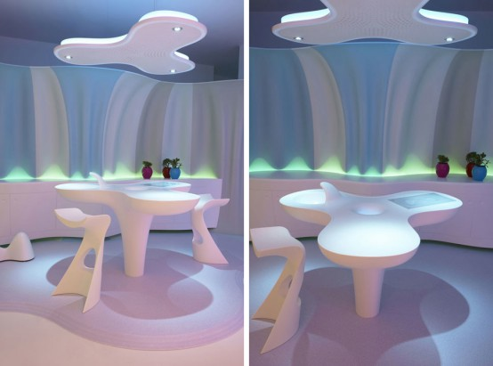 Futuristic Living Room Interior Design Concept By Karim Rashid