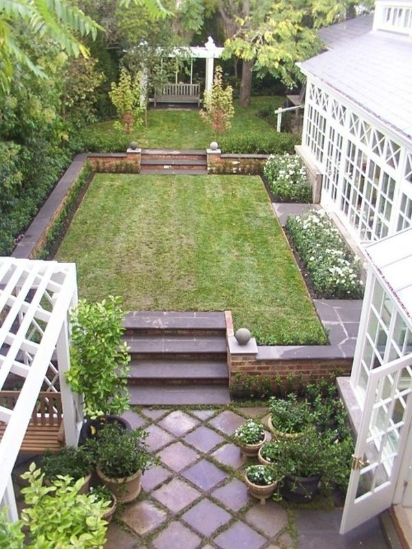 How To Make Your Garden Look Bigger Without Expanding on Rectangular Backyard Design  id=38679