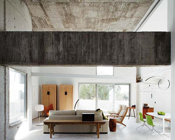Dainty And Unique Apartment Concrete Minimalism