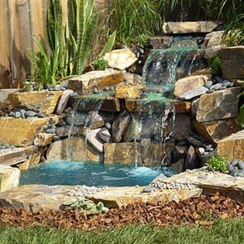 4 Home Waterfalls Ideas on Small Pond Waterfall Ideas id=70588