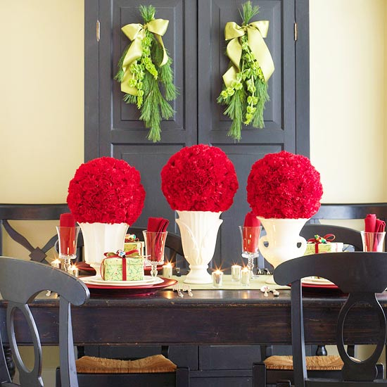 Flower Arrangement for Christmas