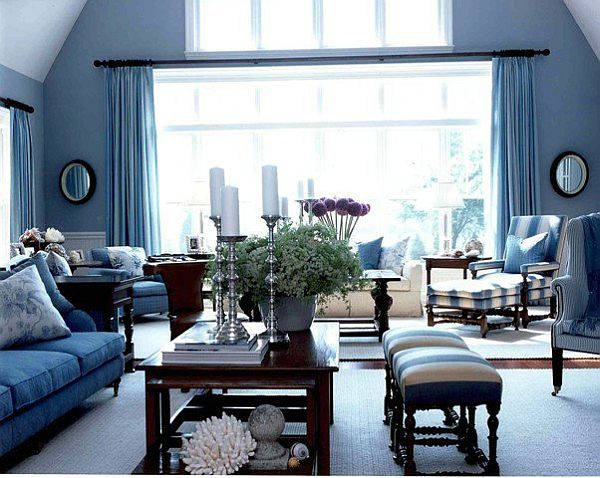 White Blue Furniture Curtains And Light Paint Colors Modern Living Room Decor