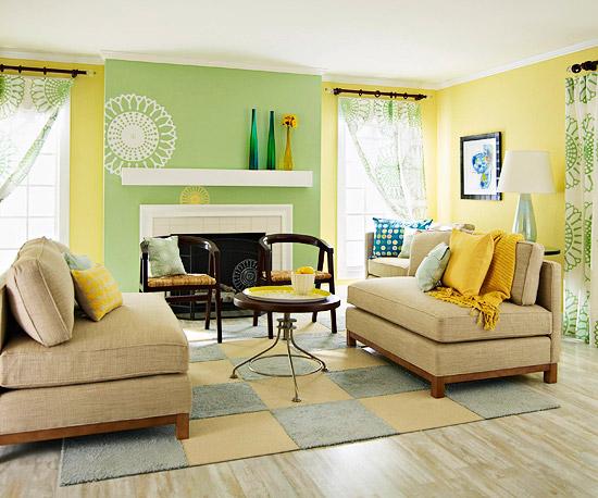 Gray And Yellow Living Room Ideas Contemporary Decor Livingroom Design