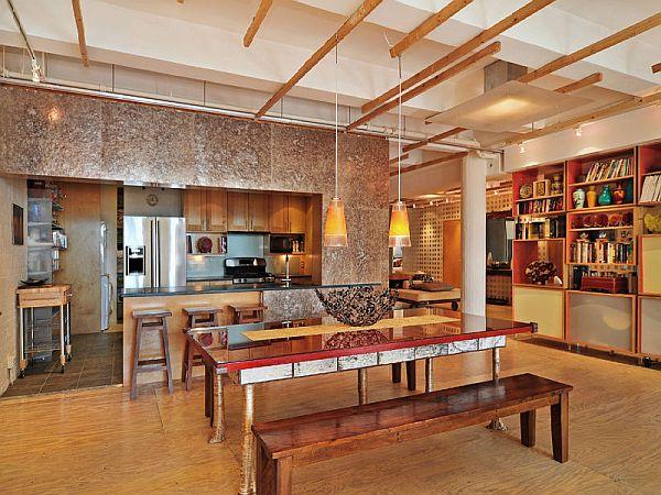 Spacious New York loft with an industrial décor