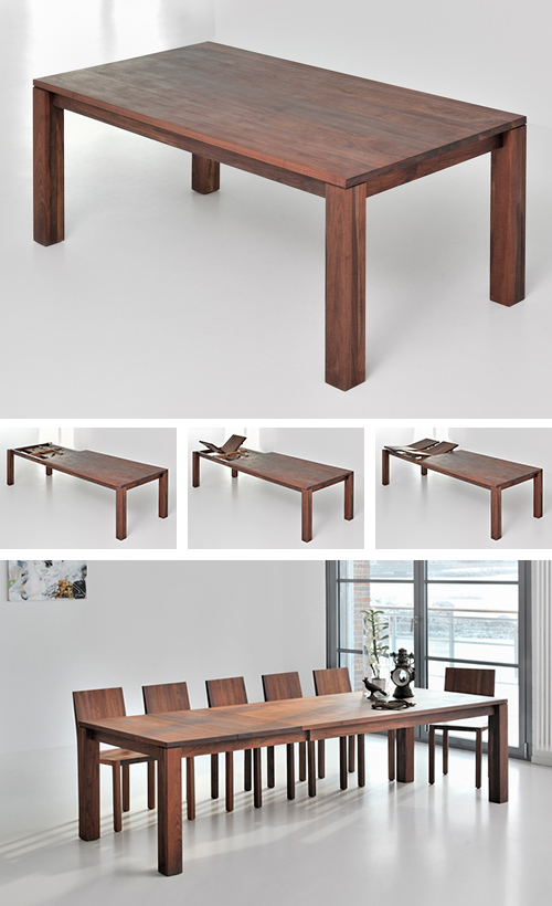 classic extending dining table from solid wood on solid wood dining table id=12037