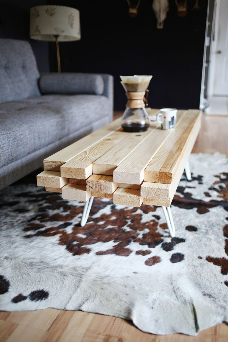 6 homemade coffee tables with wooden