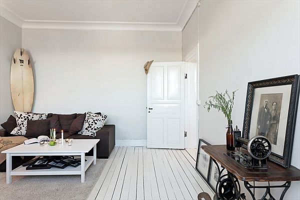 Tiny Apartment Renovation Featuring White Walls