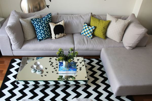 Sectional Couch Rug Placement
