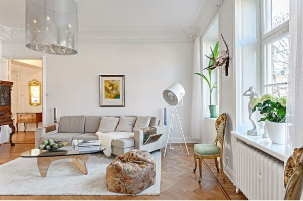 Scandinavian And Luxury Styles Apartment Interior Design