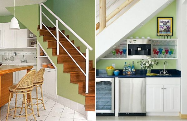 customize your kitchen under the stairs imagine your homes