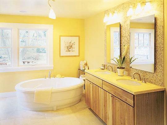 6 Ways To Make A Monochromatic Bathroom Pop! on Monochromatic Bathroom Ideas  id=36642