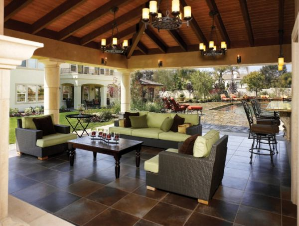 covered outdoor patio living space Tips for Creating the Perfect Outdoor Living Space