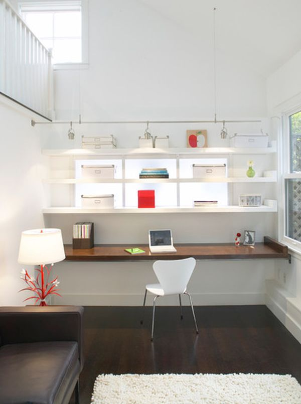 modern floating desk plans