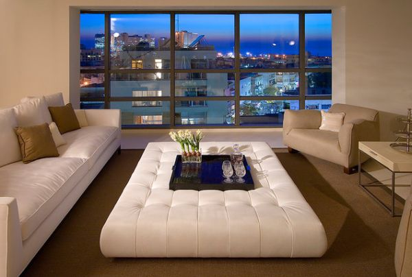 Padded Benches Living Room