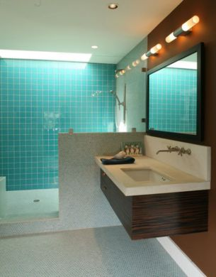 How To Take Advantage Of Floating Vanities To Make Bathrooms Spacious     sink cabinet and matching mirrors View