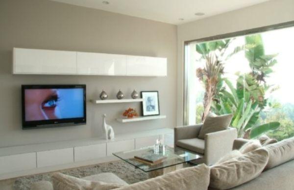 Modern Living Room Wall Mount Tv Design Ideas