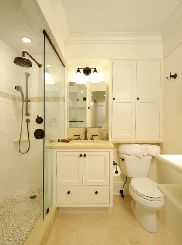 Small bathrooms with clever storage spaces on Bathroom Design In Small Space  id=25527