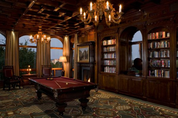 A few decor ideas and suggestions for your billiards room View in gallery Dramatic billiards room