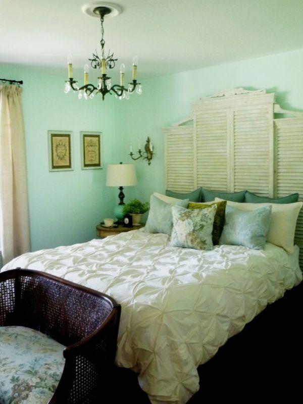 Bedroom, room, furniture, interior design, green, blue, wall, property. Decorating A Mint Green Bedroom: Ideas & Inspiration