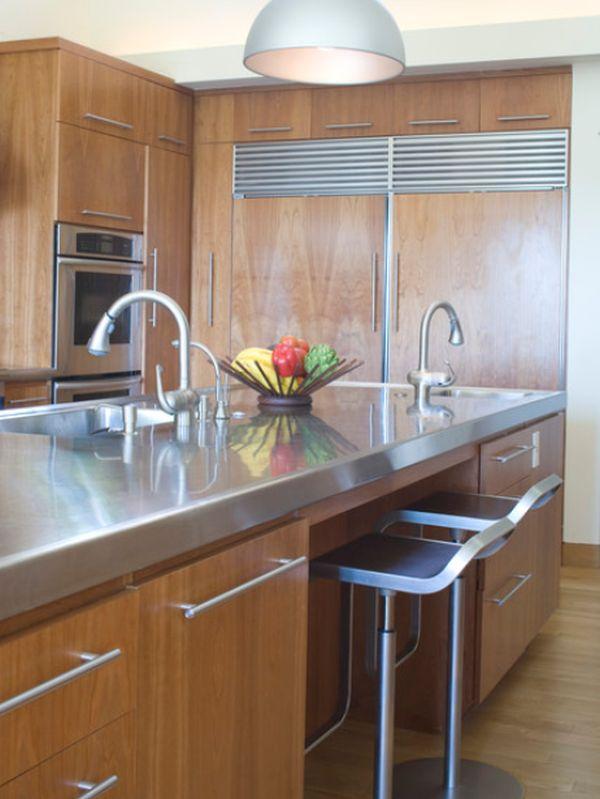 10 Beautiful Stainless Steel Kitchen Island Designs on Modern:0Bjn4Cem9Be= Kitchen Counter  id=20639