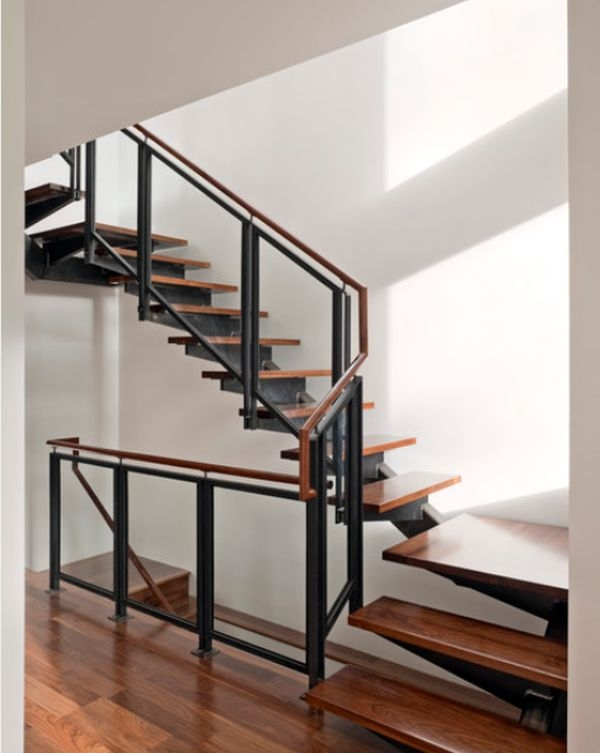 Modern Handrail Designs That Make The Staircase Stand Out | Wood And Steel Handrail | Outdoor | Column | Stainless Steel | Balustrade | Ultra Modern Steel