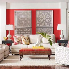 20 Colors That Jive Well With Red Rooms. Red Color Wall Design Interior For  Living Part 59