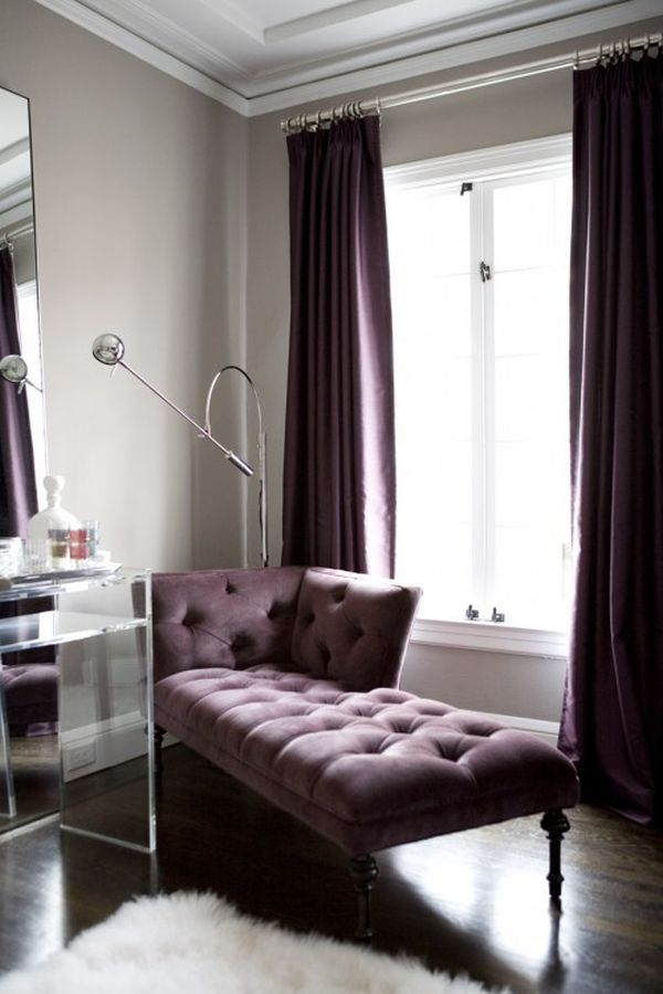 Grey And Purple Sofa