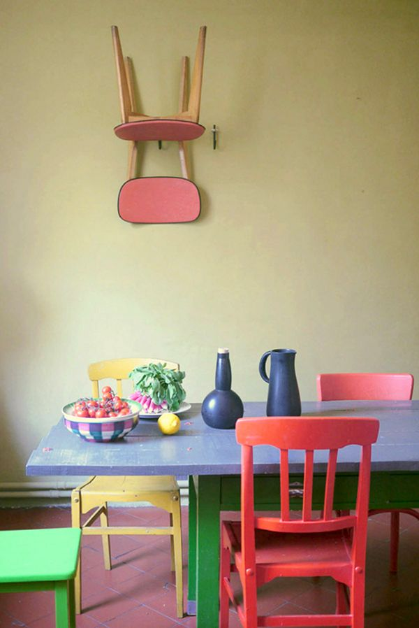 Multi Colored Dining Chairs A Playful Touch For The Dcor