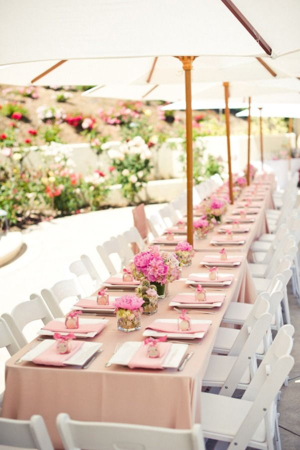 Bridal Shower Centerpieces Pink Carnation Table