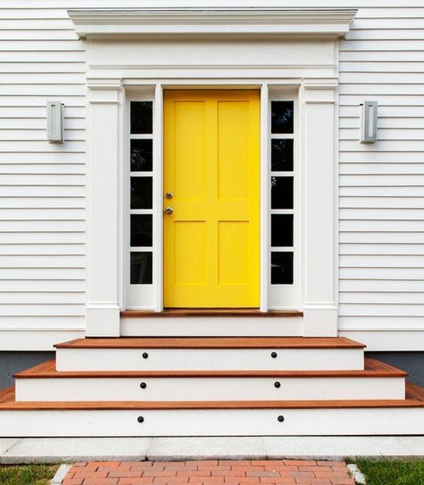 10 Bold Inspiring Front Doors | Modern Front Door Steps | Entrance | Bungalow Entrance | Modern House | Contemporary | Garden Entrance