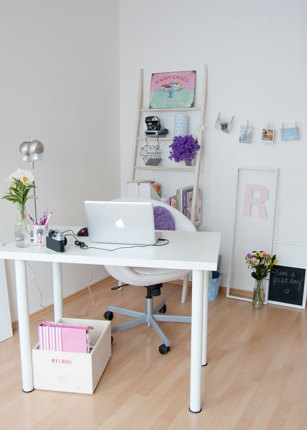 30 Best Glam  Girly  Feminine Workspace Design Ideas