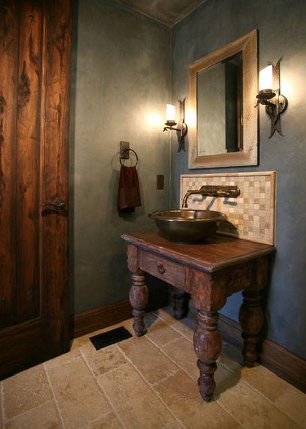 Old World Influenced Bathroom Vanities