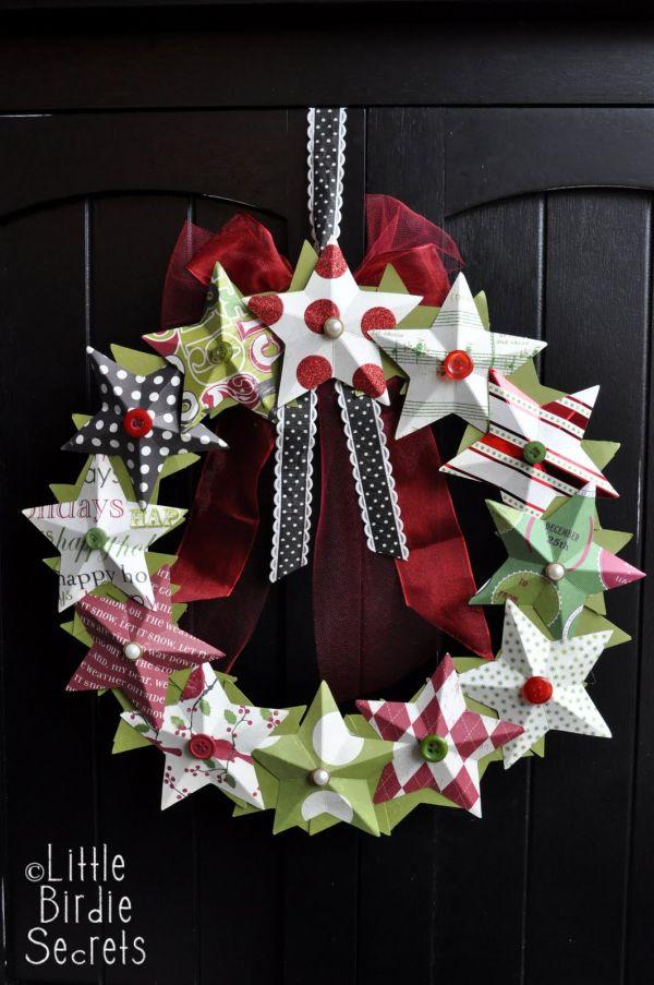 Mini Christmas Tree Craft For Kids Using Tissue Paper
