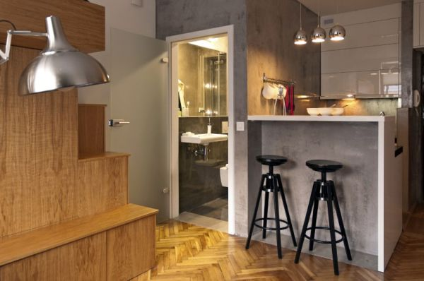 Small Bachelor Apartment With A Very Practical Design 22