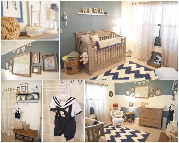 View In Gallery The Vintage Nautical Décor Looks Beautiful This Nursery
