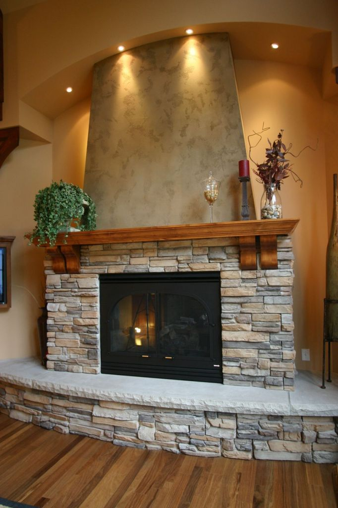 Fireplace Made From Tiny Rocks Home Decorating Trends Homedit