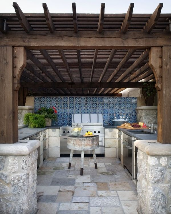 Outdoor Kitchen Designs Featuring Pizza Ovens, Fireplaces ... on Outdoor Kitchen And Fireplace Ideas id=31655