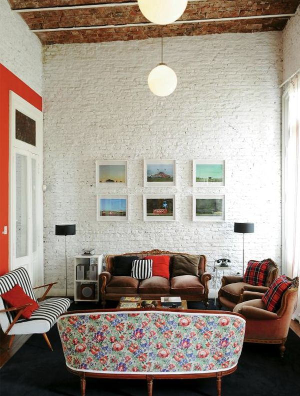 Painting Brick Walls White An Increasingly Por Trend