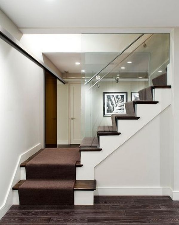 20 Glass Staircase Wall Designs With A Graceful Impact On The | Staircase Side Wall Designs Tiles | Decorative | Unusual | Wall Painting | Front House | Modern