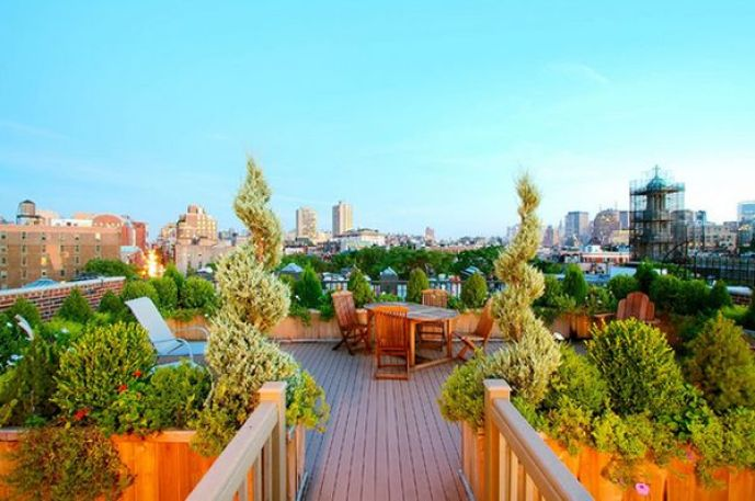 trasformare il terrazzo in un'oasi urbana
