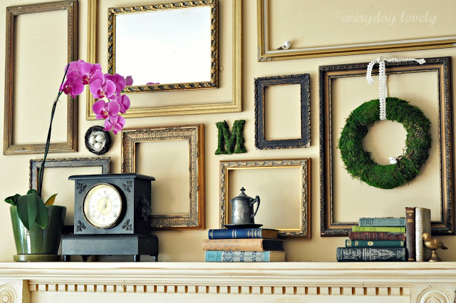 10pcs Photo Frame Wall Sticker For Art Real Wood Home Decor Diy