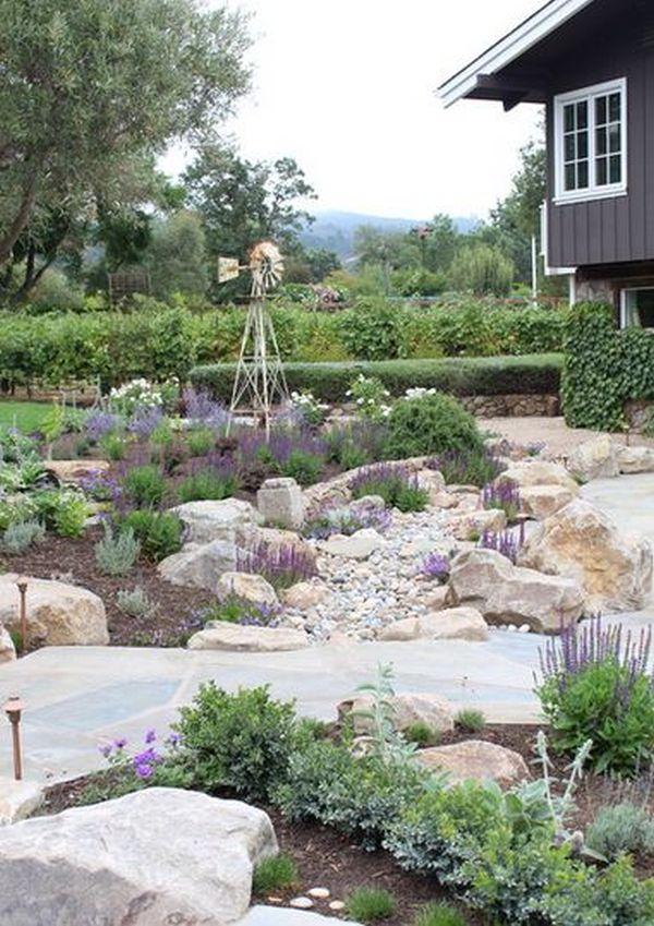 Large Flat Stones Landscaping