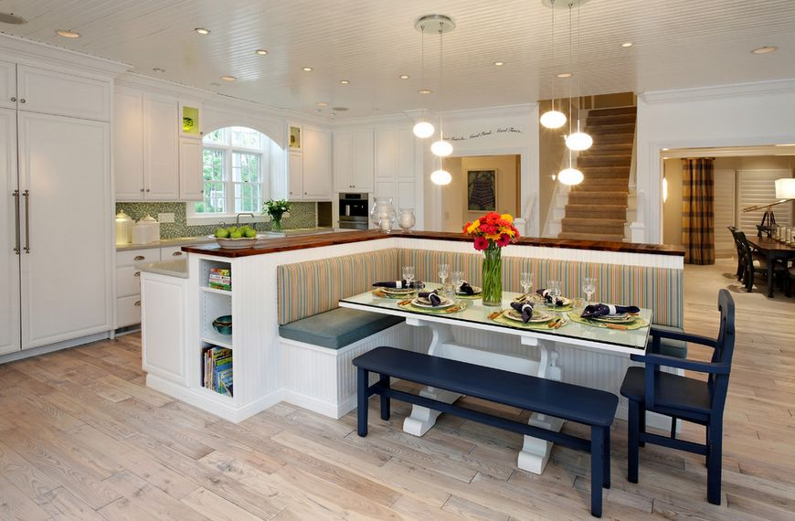 Kitchen Island With Integrated Dining Table Novocom Top