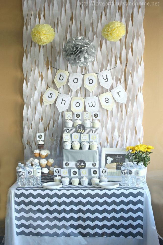 Simple Spring Baby Shower Decoration Ideas From Playpartyplan Com Babyshower Decorations Diy